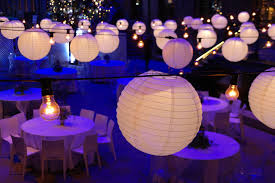 Home Decor White Theme Hanging Paper Lantern Lights For Outdoor