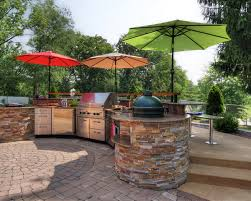 Outdoor Kitchen With Big Green Egg Cooking Furniture