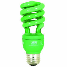 lighting ideas green colored cfl light bulb from feit electric