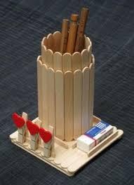 Creative Ideas Kindergarten Ice Cream Sticks Parents Day Hessian Fabric Corks Ornaments Portapenne Fai Da Te Con Gli Stecchi Del