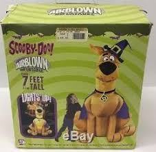 Halloween Airblown Inflatables Uk by New 7 U0027 Scooby Doo Gemmy Lighted Airblown Inflatable Haunted