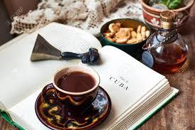 Coffee Reading Stock Photo