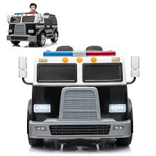 Police Truck Electric Ride On Car 2 Seats With Remote Control For ... Tonka Ride On Mighty Dump Truck For Kids Youtube High Quality Truck Electric For Kids 110 Big 4 Channel Aosom 12v Ride On Toy Jeep Car With Remote Rc 124 Scale 15kmh Radio Controlled Vehicle 2wd Off On Cars Jeeps 12v Electric Car Jeep Battery Ride In Kid Not Lossing Wiring Diagram Best Choice Products Battery Powered Control Light Mercedesbenz Wheels New Mini Buy Fire Red Grey Online At Universe