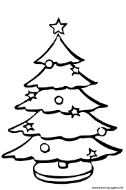 Christmas Tree Coloring Page Print by A Christmas Tree Coloring Pages Printable