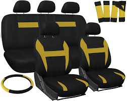 100 Truck Seat Covers For Dodge Ram Yellow Black WSteering WheelBelt
