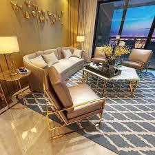 sofa polster sitz garnitur leder wohnzimmer sofas set 3tlg hocker 3 1 1