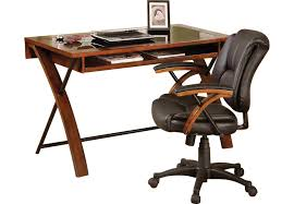 cherry desk and chair computer cabinets wood