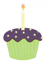 Cupcake With Candle Clipart