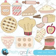 Bake sale clipart mercial use Illustrations