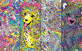 Details From The Covers Of Lisa Franks Four Adult Coloring Books Courtesy Frank