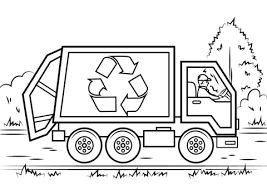Click To See Printable Version Of Recycling Truck Coloring Page