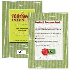 Halloween Scavenger Hunt Clue Cards by Football Treasure Hunt Kit Football Party Games Party Ark