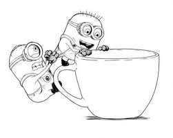 Cute Cartoon Minions Despicable Me Coloring Pages