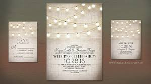 Read More VINTAGE RUSTIC BURLAP AND STRING LIGHTS WEDDING INVITE