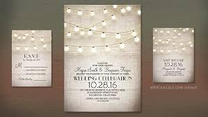 Strings Of Lights And Burlap Vintage Rustic Wedding Invite
