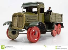 Vintage Toy Truck From The 1940s Stock Image - Image Of 1930s ...