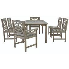 Blue Hill 7 Piece All Weather Eucalyptus Wood Patio Dining Set