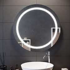 badezimmer led spiegel badspiegel mit beleuchtung kosmetikspiegel kippschalter rund 84cm gtbm1488k