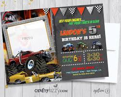 Monster Truck Birthday Invitation - Off-Roading Birthday Party ... Birthday Monster Party Invitations Free Stephenanuno Hot Wheels Invitation Kjpaperiecom Baby Boy Pinterest Cstruction With Printable Truck Templates Monster Birthday Party Invitations Choice Image Beautiful Adornment Trucks Accsories And Boy Childs Set Of 10 Monster Jam Trucks Birthday Party Supplies Pack 8 Invitations
