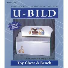 shop u bild toy chest and bench woodworking plan at lowes com