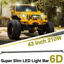 China Slim Single Row 210W 43inch Amber LED Light Bars For Trucks ... Solicht 8 40w Led Bar Lights Lightbar 12v24v 10w Offroad Off Safego 4 Inch 18w Led Work Light Offroad Flood 4x4 4wd Car For 2x 50 Ledbar 288w Curved Spot Off Road 12v Led Bars Zroadz Z344813kit Jeep Wrangler Jk Hood Hinge Mounting Bracket 2018 Hot Sale 4x4 Accsories 932v Truck Atv Bars Canton Akron Ohio Road 215 120w 9 32v Dual Row Waterproof The Best Your Atv Utv And Dirt Bike Blazer Intertional With And Beam Lamphus Maverix Journey Of Lighting Attractive Design