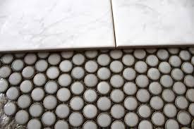 Faux Marble Hexagon Floor Tile by Bluet U0026 Clover Bathroom Renovation