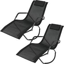 Sunnydaze Decor Gray Frame Folding Rocking Sling Outdoor Lounge Chair With  Pillow In Black (Set Of 2) Gci Outdoor Freestyle Rocker Portable Folding Rocking Chair Smooth Glide Lweight Padded For Indoor And Support 300lbs Lacarno Patio Festival Beige Metal Schaffer With Cushion Us 2717 5 Offrocking Recliner For Elderly People Japanese Style Armrest Modern Lounge Chairin Outsunny Table Seating Set Cream White In Stansport Team Realtree 178647 Wooden Gci Ozark Trail Zero Gravity Porch