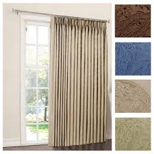 one way draw patio curtain thermal patio door curtain