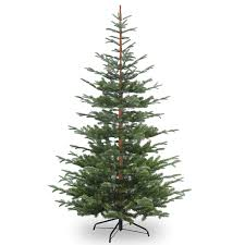 9ft Pencil Christmas Tree by 6ft Nobleman Spruce Feel Real Artificial Christmas Tree