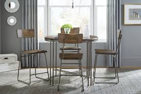 Oslo Standard 11600 5 5pc Modern Industrial Vibe Dining Set Bronze Color Metal