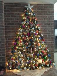 Christmas Tree Toppers Lighted Rustic On The Wall Made With