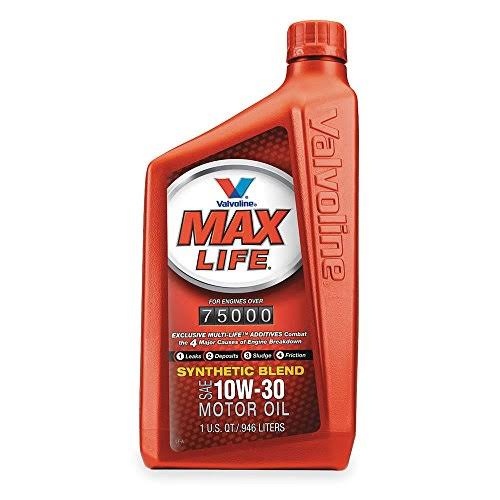 Valvoline 10W30 MaxLife High Mileage Motor Oil - 1qt