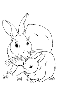 Mask Rabbit Baby Bunny Coloring Page