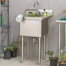 Stainless Steel Utility Sink With Legs by Stainless Steel Utility Sinks Ebay