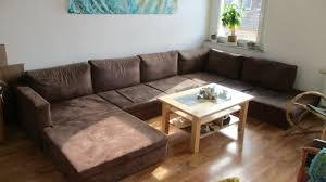 u förmiges braunes sofa wohnlandschaft liegewiese