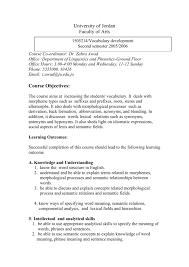 vocabulary development course outline
