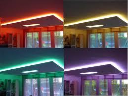 indirekte deckenbeleuchtung mit led strips beleuchtung