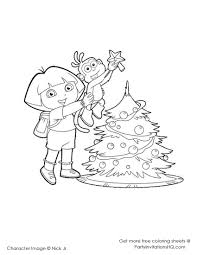 Berenstain Bears Christmas Tree Coloring Page by Most Lovable American Cartoon Character Dora Coloring Pages Kids Aim