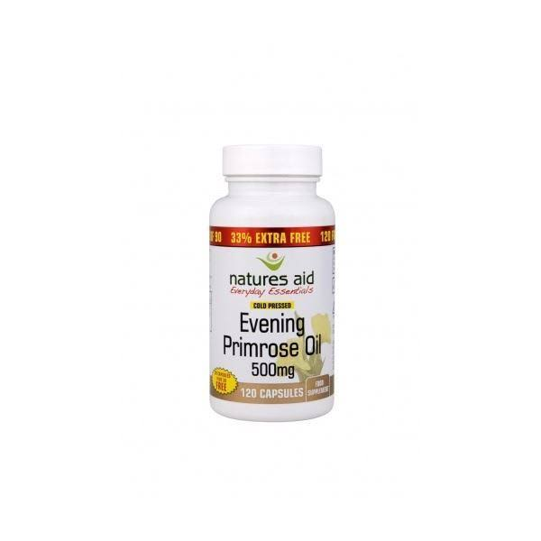 Natures Aid Omega 6 Evening Primrose Oil Food Supplement - 120ct