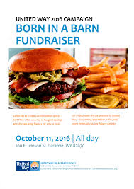 Fundraiser Today! « United Way Of Albany County Born In A Barn Anongs Thai Cuisine Menu Urbanspoonzomato Wings Burgers And More At Barn Ding Journalstarcom Uw Marching Band Hits The Bars News Lamieboerangcom Laradise Hashtag On Twitter Altitude Cphouse Brewery Night Heron Books Cafe Gliffen Cavalryman Steakhouse Page 9 Wyoming Athletics 2 Motel 6 Laramie Hotel Wy 49 Motel6com
