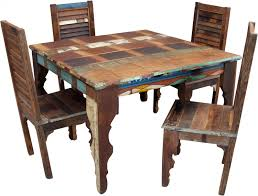Antique Dining Table Set (JH9-113) - 78x124x124 Cm