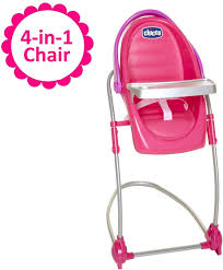 Baby Doll High Chair & Swing Gift Set, 4-in-1 Chair For Baby Dolls, Forup  To 18