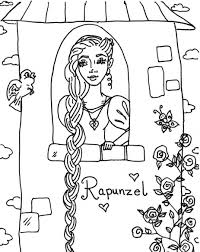 Download Rapunzel Coloring Pages 8