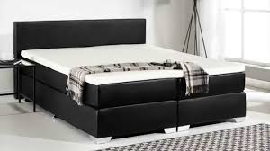 Beliani Box spring bed PU leather King Size PRESIDENT black