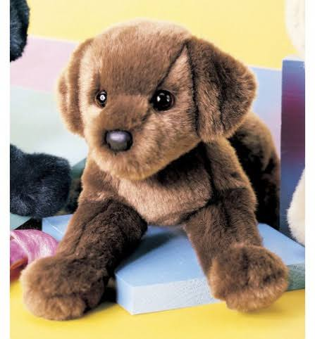 Douglas Cuddle Dog Stuffed Animal Toy - CC Bean Chocolate Lab, 12""