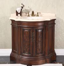 legion 38 inch vintage bathroom vanity wb 1838l in cherry brown finish
