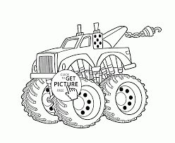 Funny Monster Truck Coloring Page For Kids, Transportation Coloring ...