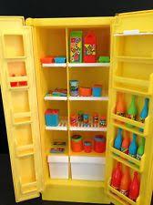 Vintage Barbie Dream House Kitchen Furniture Stove Refrigerator Food