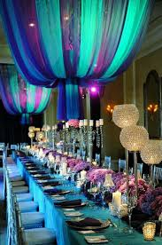 Quinceanera Party Themes Decorations Purple And Turquoise Theme Ideas
