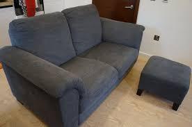 two seater sofa footstool one year old ikea tidafors fabric